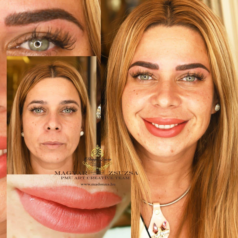 Full Face beauty szálas szemöldök ajak teljes satír MAGYAR ZSUZSA PMU-Art